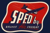 Retrotravel - Sped by Branif Air Freight