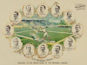 Vintage Sports - Our baseball heroes - captains of the twelve clubs in the National League