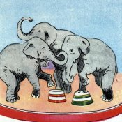 Vintage Elephant - Three Elephants