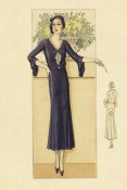 Vintage Fashion - Daytime Dress in Navy