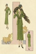 Vintage Fashion - Emerald Suit with Stole