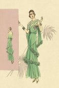 Vintage Fashion - Playful Green Evening Gown