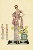 Vintage Fashion - Party Dress in Pink and Blue