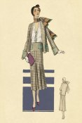 Vintage Fashion - Stylish Daytime Suit and Scarf
