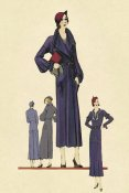 Vintage Fashion - Modeles Originaur: A Blue Overcoat