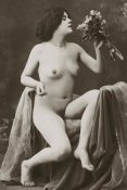 Vintage Nudes - Nude with a Bouquet