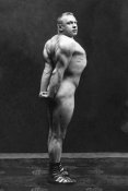 Vintage Muscle Men - Profile of Arm, Shoulder, and Upper Back Flex