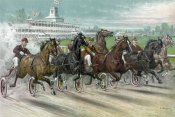 Currier and Ives - A Dash for the Pole
