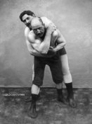 Vintage Wrestler - Wrestling Hold from Behind