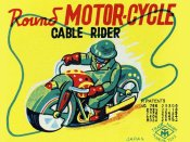 Unknown - Round Motor-cycle Cable Rider