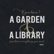 BG.Studio - Quote -Cicero - Garden and a Library