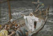 James Tissot - Jesus Stilling the Tempest, The Life of Our Lord Jesus Christ, 1886-1894