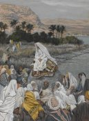James Tissot - Jesus Sits by the Seashore and Preaches, The Life of Our Lord Jesus Christ, 1886-1894