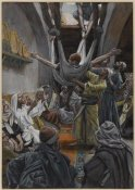 James Tissot - The Palsied Man Let Down through the Roof, The Life of Our Lord Jesus Christ, 1886-1894