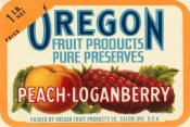 Retrolabel - Peach - Loganberry Preserves Cropped