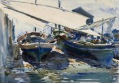 John Singer Sargent - Boats Drawn Up, ca. 1908