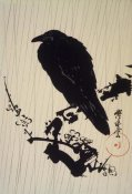 Kawanabe Kyosai - Crow on a Branch, ca. 1875