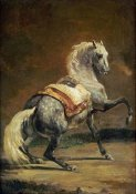Theodore Gericault - Dappled Grey Horse (Reversed)