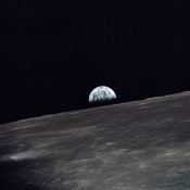 NASA - Earthrise, viewed from Apollo 10, 1969