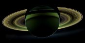 NASA - The dark side of Saturn viewed from Cassini, December 18, 2012