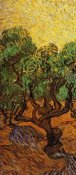 Vincent van Gogh - Olive Trees With Yellow Sky And Sun (left)