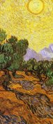 Vincent van Gogh - Olive Trees With Yellow Sky And Sun (center)