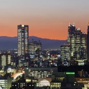 Unknown - City Skyline, Shinjuku District, Tokyo, Japan (left)