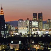 Unknown - City Skyline, Shinjuku District, Tokyo, Japan (center)
