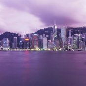 Reed Kaestner - Hong Kong Central District's Skyline at Twilight (center)