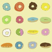 Jan Weiss - 16 Donuts on Yellow