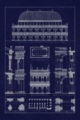 J. Buhlmann - Basilica at Vicenza and Library of St. Marks at Venice (Blueprint)