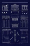 J. Buhlmann - Doric Order, Temple of Zeus and Cased Column (Blueprint)