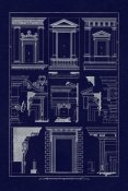 J. Buhlmann - Windows of Palazzo Non Finito, Palace and House at Rome (Blueprint)