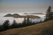 Matthias Breiter - Entrance Mountain and Mount Woolard emerge from sea fog around Orcas Island, San Juan Islands, Washington
