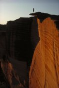 Jean-Paul Ferrero - Person standing atop the Kings Canyon north wall, Watarrka National Park, Northern Territory, Australia