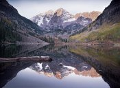 Tim Fitzharris - Maroon Bells reflected in Maroon Bells Lake, Snowmass Wilderness, White River National Forest, Colorado