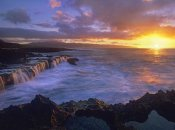 Tim Fitzharris - Sunset at Shark's Cove, Oahu, Hawaii