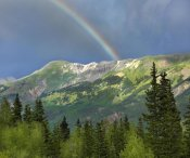 Tim Fitzharris - Rainbow over Brown Mountain, Colorado