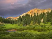 Tim Fitzharris - Red Mountain and pond, near Ouray, Colorado