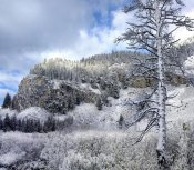 Tim Fitzharris - Light snow covering Boulder Mountains, Idaho