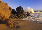 Tim Fitzharris - Waves crashing on Point Dume Beach, California