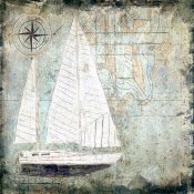 Karen J. Williams - Sailboat Map II