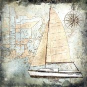 Karen J. Williams - Sailboat Map IV