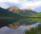 Tim Fitzharris - Red Mountain reflected in Crystal Lake, Colorado