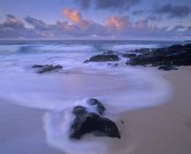 Tim Fitzharris - Rolling waves at dusk at Sandy Beach, Oahu, Hawaii