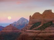 Tim Fitzharris - Moon setting as seen from Shelby Hill, Sedona, Arizona