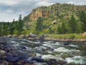 Tim Fitzharris - Rapids with cliffs above Cache La Poudre River, Colorado