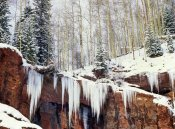 Tim Fitzharris - Frozen waterfall in winter, San Juan Mountains, Colorado