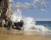 Tim Fitzharris - Lover's Beach with crashing waves, Cabo San Lucas, Mexico