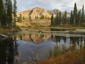 Tim Fitzharris - Ruby Range reflected in pond, Raggeds Wilderness, Colorado